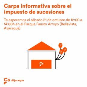 21 de Octubre: Mesa Informativa sobre Impuesto de Sucesiones en Bellavista (Aljaraque)