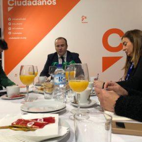 """Julio Díaz (Cs) destaca que la """"estabilidad"""" de Ciudadanos en Andalucía se ha traducido en """"mejoras"""" para Huelva"""
