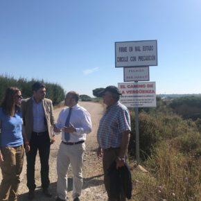 Ciudadanos (Cs) lleva al Parlamento el estado de los caminos rurales en la provincia de Huelva