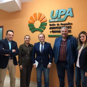 """Díaz (Cs) se compromete con UPA a """"analizar las necesidades de la agricultura para que Huelva desarrolle todo su potencial"""""""