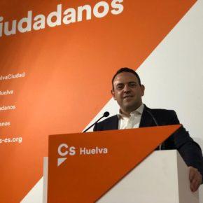 """Carlos Hermoso (Cs): """"Huelva no volverá a ser moneda de cambio"""""""