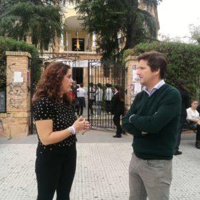 """García de Longoria: """"Cs ha hecho en 10 meses en el IES La Rábida lo que no sabido hacer el PSOE en 20 años"""""""
