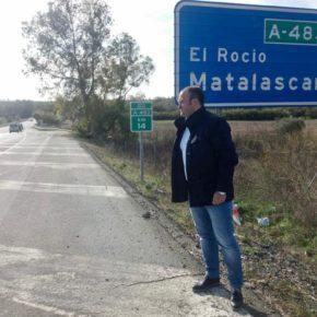 """Díaz: """"Las obras de la carretera Almonte-El Rocío serán un modelo de eficiencia en la gestión"""""""