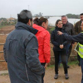 María Ponce visita en Isla Cristina las explotaciones agrícolas afectadas por las inundaciones