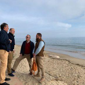 """Díaz (Cs): """"¿Dónde están las soluciones definitivas para proteger las playas que Sánchez y el PSOE de Huelva prometieron?"""""""