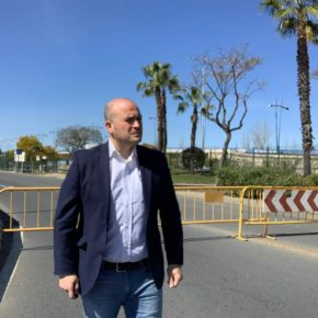 """Díaz: """"Hasta ahora no ha habido un Gobierno en la Junta valiente que le meta mano a los problemas del puente del Odiel"""""""