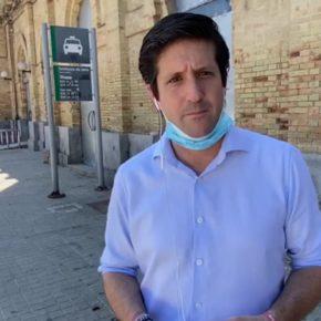 Ciudadanos pide a Cruz que exija al Gobierno la cesión de la antigua estación de tren y proteja el edificio de los 'okupas'