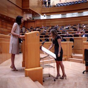 María Ponce y Fran Hervías toman posesión de su acta de senadores