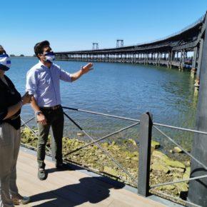 Cs pide a Cruz que termine las obras de iluminación del Muelle cargadero de Riotinto para que sea un atractivo más de la ciudad
